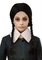Парик детский Уэнздей семейка Адамс (Kids The Addams Family Wednesdays Wig)