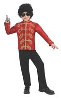 Детская Красная куртка Майкла Джексона (Red Military Deluxe Kids Michael Jackson Jacket)
