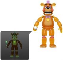 Подвижная фигурка Рокстар Фредди светится в темноте из 5 ночей с Фредди (Rockstar Freddy) 13 см