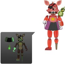 Подвижная фигурка Rockstar Foxy из 5 ночей с Фредди ( Funko Action Figures: Five Nights at Freddy's Pizza Simulator - Rocky Foxy) 13 см