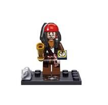 Фигурка Капитан Джек Воробей (Captain Jack Sparrow) совместима с лего из фильма Пираты Карибского моря