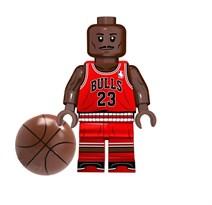 Фигурка баскетболист Майкл Джордан совместима с лего