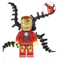 Минифигурка Веном в костюме Железного человека с щупальцами совместимая с лего