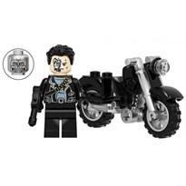 Фигурка совместима с лего Терминатор с мотоциклом