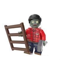 Фигурка совместима с лего Зомби с лестницей Plants vs. Zombies