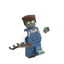Фигурка совместима с лего Зомби с граблями Plants vs. Zombies