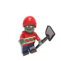 Фигурка совместима с лего Зомби в шлеме с лопатой Plants vs. Zombies