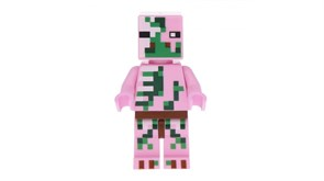 Фигурка совместима с лего Розовый зомби из игры Майнкрафт