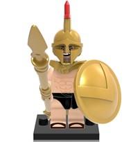 Фигурка золотой Спартанец совместима с лего