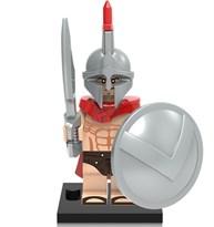 Фигурка серебряный Спартанец совместима с лего