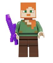 Фигурка совместима с лего Алекс с мечом из игры Майнкрафт