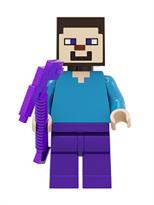Фигурка совместима с лего Стив с киркой из игры Майнкрафт