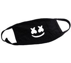 Маска на рот DJ Marshmello черная