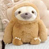 Плюшевый ленивец 40 см (коричневый)
