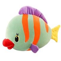 Плюшевая рыба в полоску (зеленая)