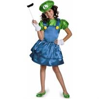 Костюм для девочки Луиджи (Super Mario)