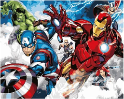 Картина по номерам Мстители (Avengers) купить в Москве