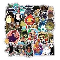 Набор наклеек из аниме Миядзаки 50 шт