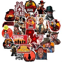 Набор наклеек игры Ред дед редемпшн (Red dead redemption 2) 50 шт купить в России