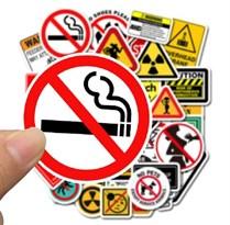 Набор наклеек Предупреждающие знаки 50 шт купить в России