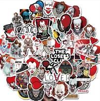 Набор наклеек Клоун Пеннивайз (Оно) 50 шт купить в России