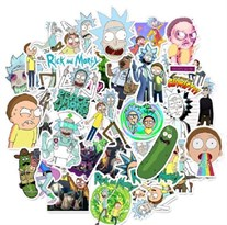 Набор наклеек Рик и Морти (Rick and Morty) 35 шт купить в России