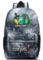 Рюкзак Ресурсы из Minecraft (Майнкрафт) звездное небо купить в Москве