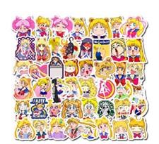 Набор наклеек аниме Сейлор Мун (Sailor Moon) 50 шт купить в России