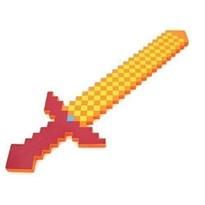 Пиксельный золотой меч Майнкрафт (Minecraft) 70 см купить в России