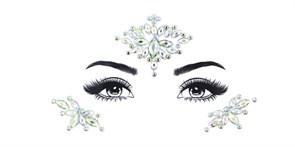 Алмазная Тату наклейка на глаза цветы