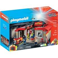 Купить Конструктор Пожарная станция (Playmobil Take Along Fire Station) 62 детали в Москве