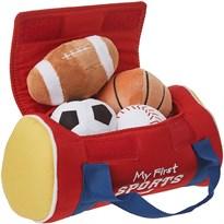 Плюшевая сумка с мячами GUND (My First Sports Bag) купить в Москве