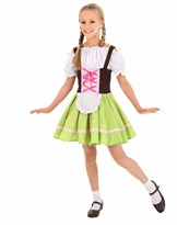 Детский баварский костюм для девочки для Октоберфеста купить в России
