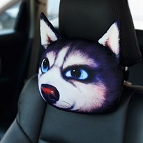Автомобильная подушка в виде хаски