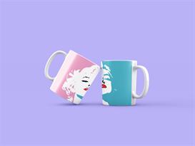 Кружка Мэрилин Монро (Marilyn Monroe) розово-голубая купить