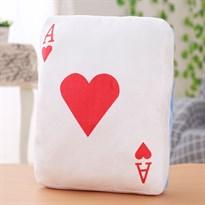 Подушка-грелка для рук в виде игральной карты (туз червей)