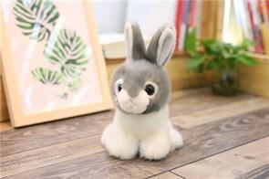 Плюшевая игрушка серый кролик (20 см)