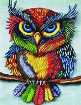 Алмазная мозаика Разноцветный филин купить