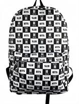 Черно-белый рюкзак k-pop BTS (БТС) купить в Москве