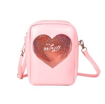 Мини сумка через плече (розовая)
