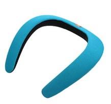 Портативная Bluetooth колонка на шею (голубая) купить в России