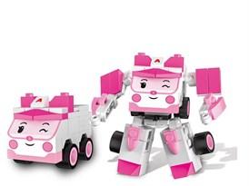 Игровой набор трансформер-машина скорой помощи Эмбер (Robocar Poli - Ambre) купить в России