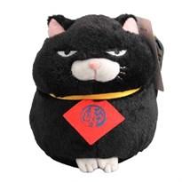 Черный сварливый кот Kuromame 20 см купить в России