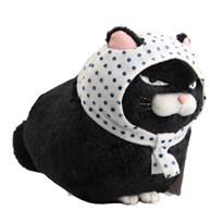 Черная кошка Маруко в платке 20 см купить с доставкой