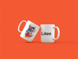 Кружка с котенком и лого Likee купить