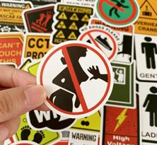 Набор креативных наклеек Предупреждающие знаки 50 шт купить недорого
