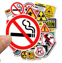 Набор креативных наклеек Предупреждающие знаки 50 шт купить в Москве