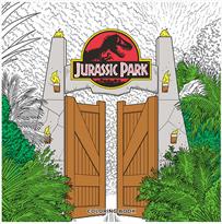 Раскраска Парк юрского периода (Jurassic Park Coloring Book) купить в Москве