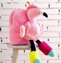Плюшевый рюкзак Фламинго (розовый) купить в России