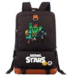 Рюкзак с мягкой спинкой Леон, Спайк, Кроу Бравл Старс (Brawl Stars) купить в России с доставкой